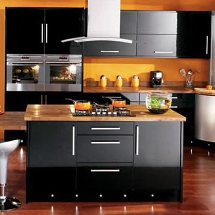 39 best images about black gloss on pinterest models for High gloss black kitchen cabinets