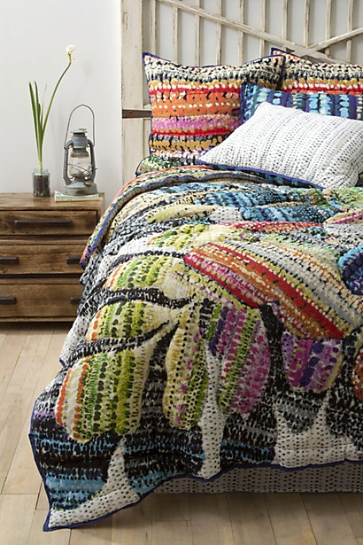 Gila Bedding from Anthropologie. Very tempting...all that wonderful color!