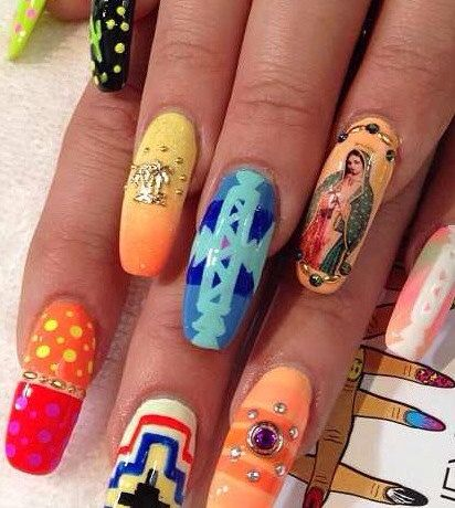 The 25 best mexican nails ideas on pinterest skull nails art awesome mothers day gift virgin of guadalupe mexican nail decals prinsesfo Gallery