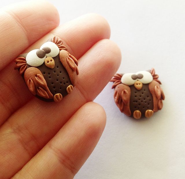 Cute little clay owls