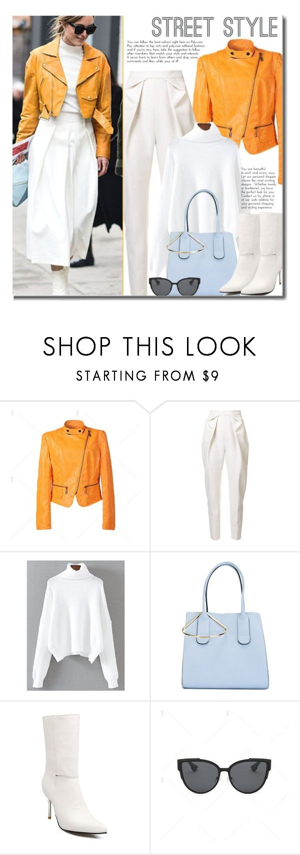 """Street Style"" by beebeely-look ❤ liked on Polyvore featuring Delpozo, Roksanda, TIBI, StreetStyle, streetwear, StreetChic, motojackets and twinkledeals"