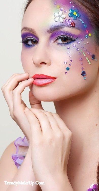 Purple lilac fantasy makeup