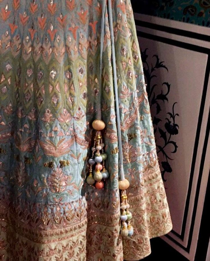 No statement better than one with pastels. #AnitaDongre #Bridal #Lehenga  Shop online: shop.anitadongre.com