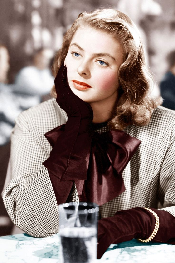 "How To Dress Like A Hitchcock Heroine  #refinery29  http://www.refinery29.com/2013/08/51471/hitchcock-blondes-fashion#slide1  Ingrid Bergman as ""Alicia Huberman"" in Notorious."