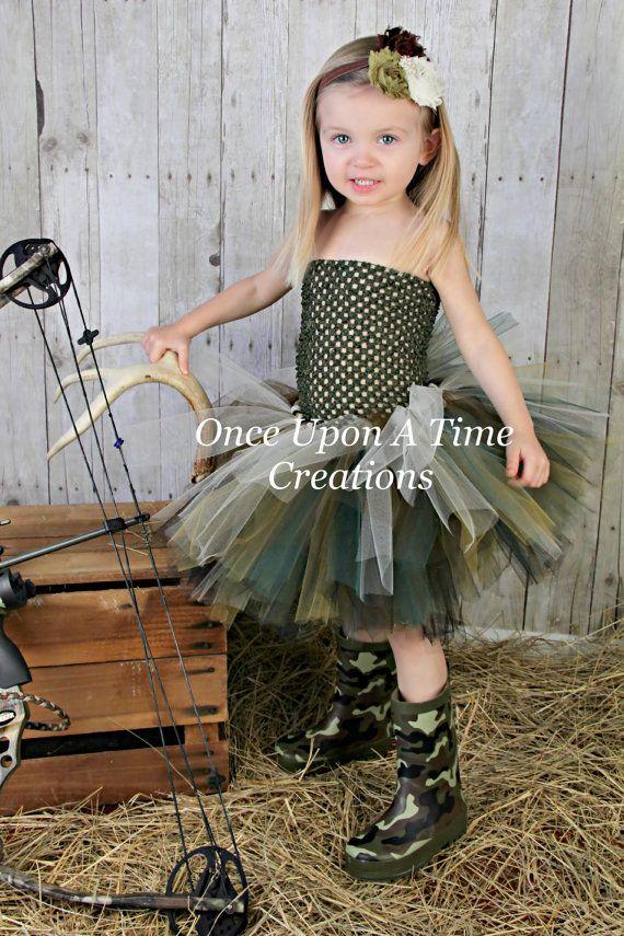 Camouflage Tutu or Dress -  Girls Sizes Newborn Baby Girls 12M 2T 3T 4T 5T 6 - Photo Prop, Halloween Costume - John Deere Birthday Outfit on Etsy, $19.99
