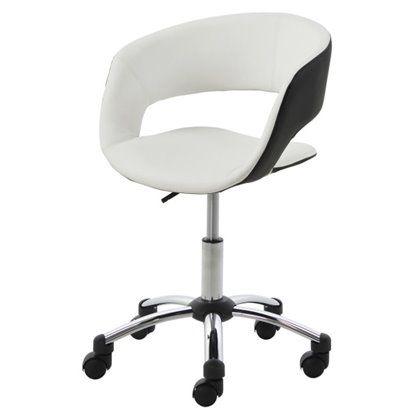 Fotel biurowy Grace czarno-biały