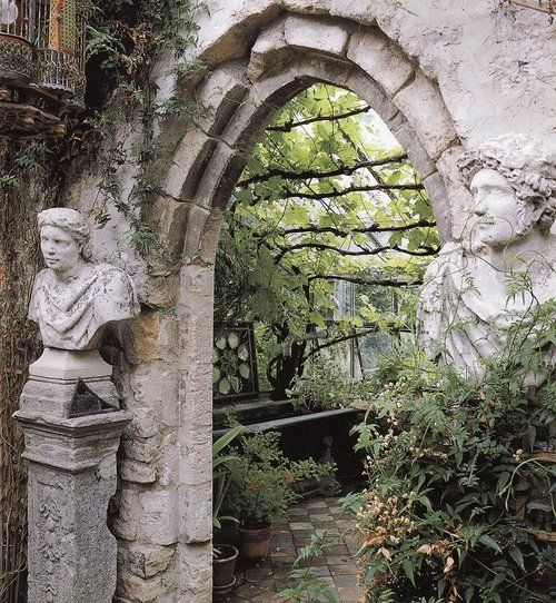 Greek garden entrance