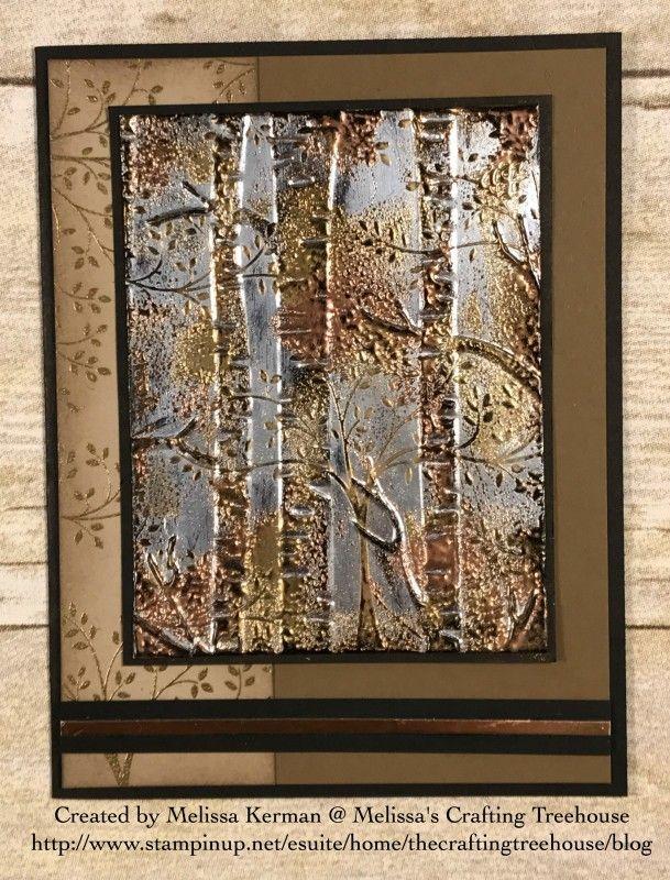 tarnished foil woodland card by Melissa Kerman