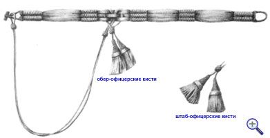 Кушак гусарского офицера образца 17 февраля 1827 года.