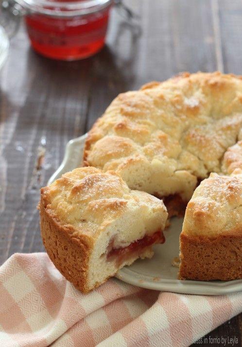 Torta veloce alla marmellata e philadelphia nell'impasto ricetta Dulcisss in forno by Leyla