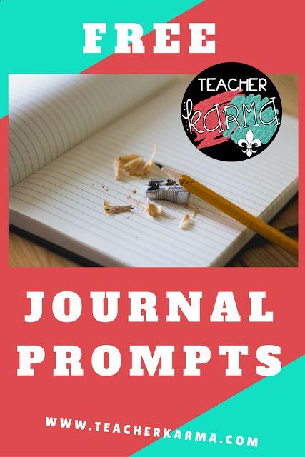 free journal writing prompts teacherkarma.com