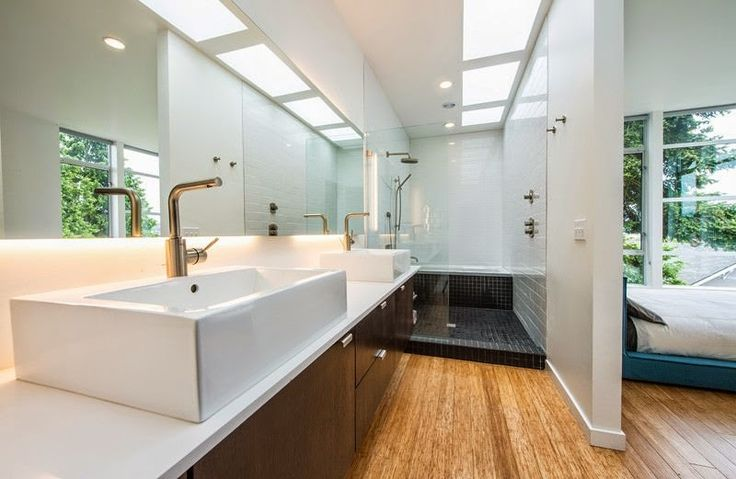 257 best images about ba os modernos modern bathrooms on for Casa minimalista beverly hills mcclean design california eeuu