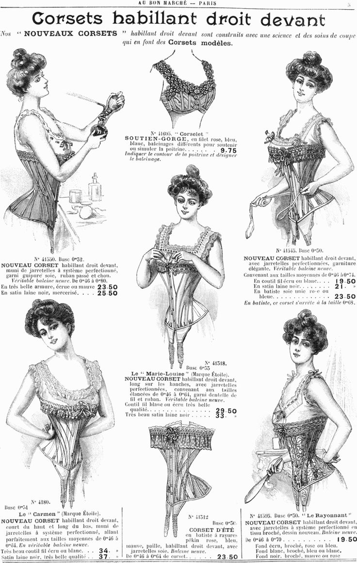 I'm just keen on all the fantastic examples of mid 1900s s-bend corsets.
