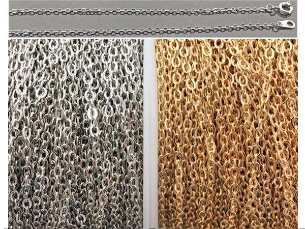 小豆チェーン 真鍮ブラス 小判チェーン ネックレスチェーン ブレスレット鎖 ハンドメイド 手作りアクセサリー パーツ金具 問屋