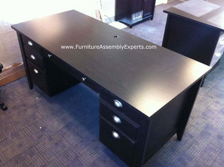 Staples Desk Made By Sauder Assembled For A Company In Loyola University Campus Baltimore MD Furniture Assembly ExpertsR LLC