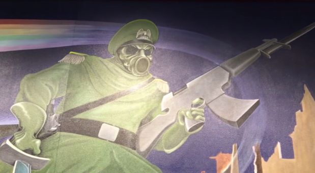 Just a quick zoom in on this scary Nazi soldier… | 8 Conspiracy Theories About The Denver Airport That'll Freak You Out