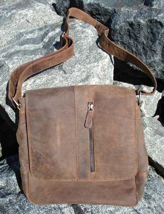 Buffalo-hide messenger Bag by Adrian Klis