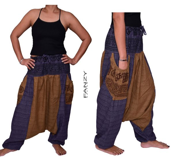 Hippie pants Harem pants with buddah arts