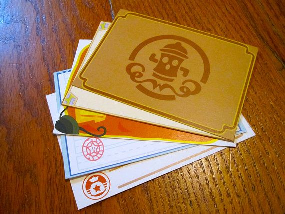 Animal Crossing Stationery Notecards NPC Set by CraftedWithZeal, $5.00