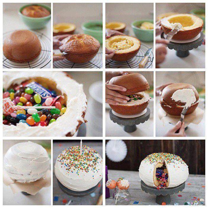 Pastel / Torta ,   piñata /sorpresa. Como quieran llamarlo ~