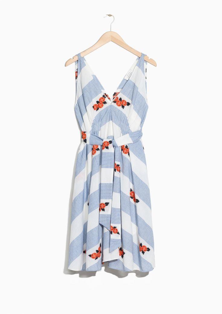 & Other Stories | V-neck Dress in Flower Print