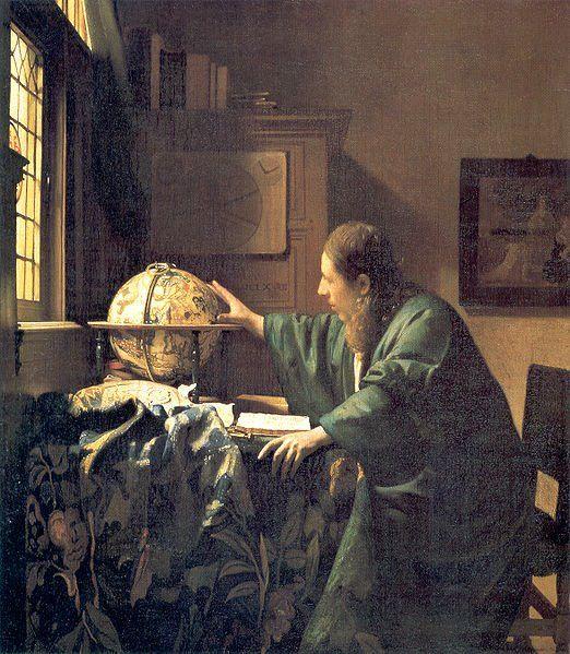 Johannes Vermeer, Delft, 1632 - 1675 TheAstronomer, 1668  Parigi, Museo del Louvre.