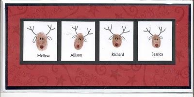 Reindeer Thumbprint Card