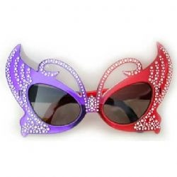 Red and Purple hat sunglasses