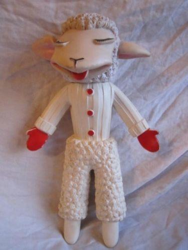 poor lamb chop.  VINTAGE 1962 SHARI LEWIS LAMB CHOP SQUEAKY TOY 1960'S TOY ALAN J CLAROLYTE CO.