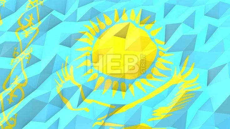 kazakhstan flag animation 3D model | CGTrader |Kazakhstan Animation