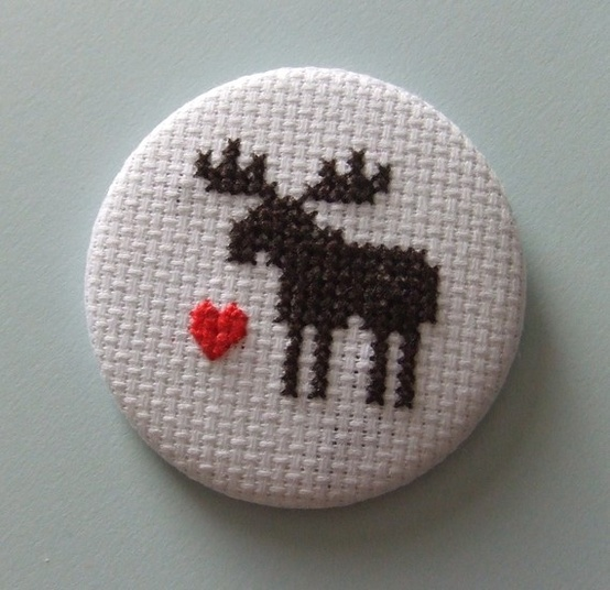 Awesome moose cross stitch - from MaMagasin's etsy shop