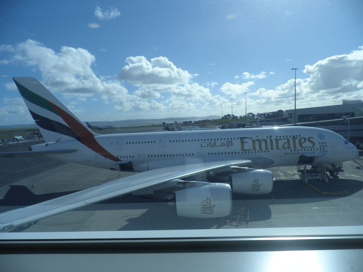 Our A380-861 (A6-EDY) at the gate in Auckland for departure to Brisbane. This aircraft first flew with Emirates in April 2012.