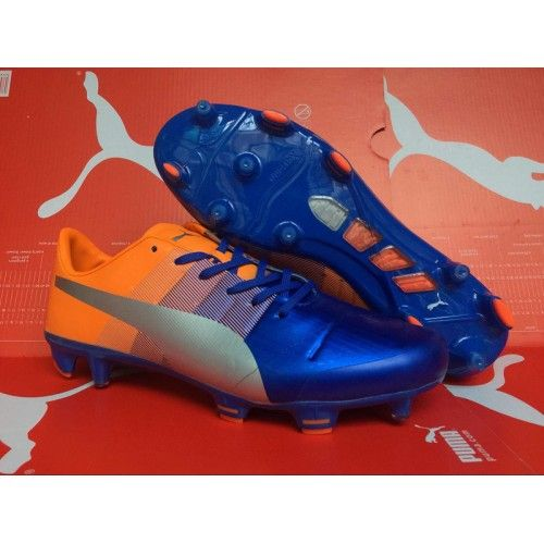 Puma evoPOWER 1.3 FG Blue Yellow Silver