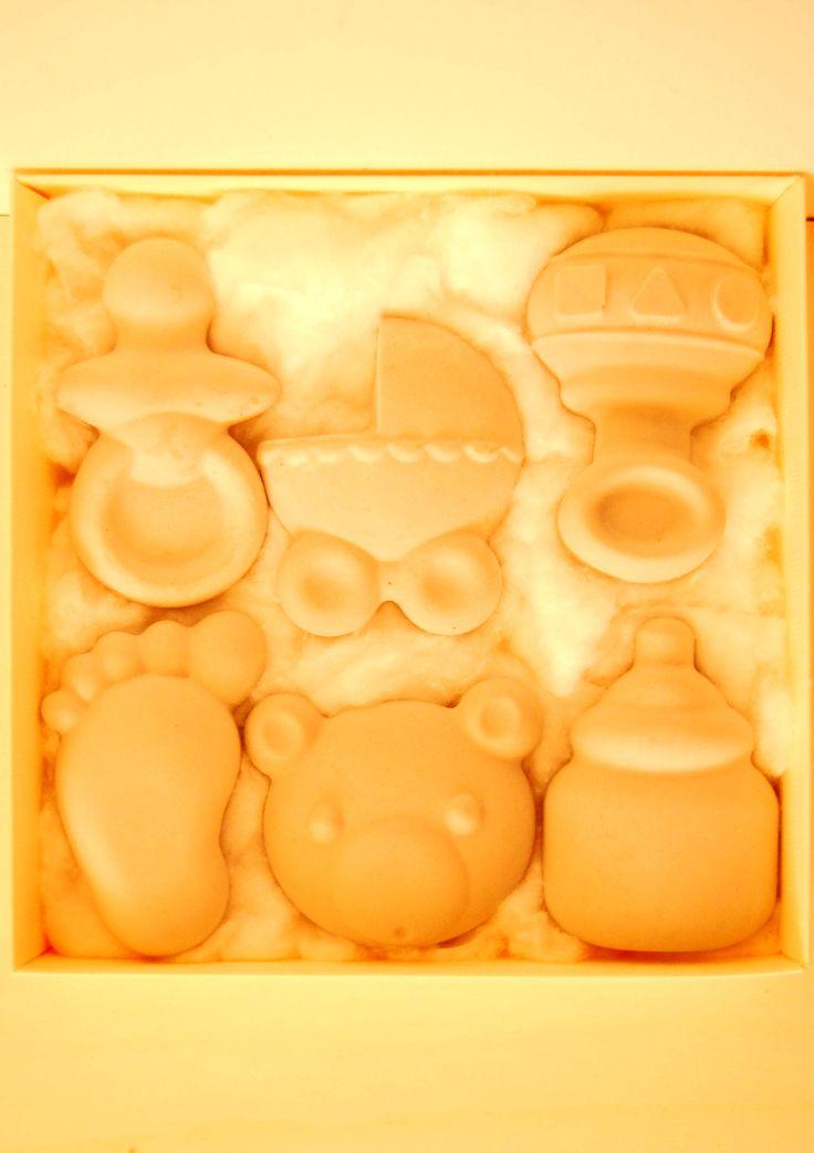 Dolci e profumati gessetti adatti a profumare ambienti, cassetti e biancheria...tipologia baby!