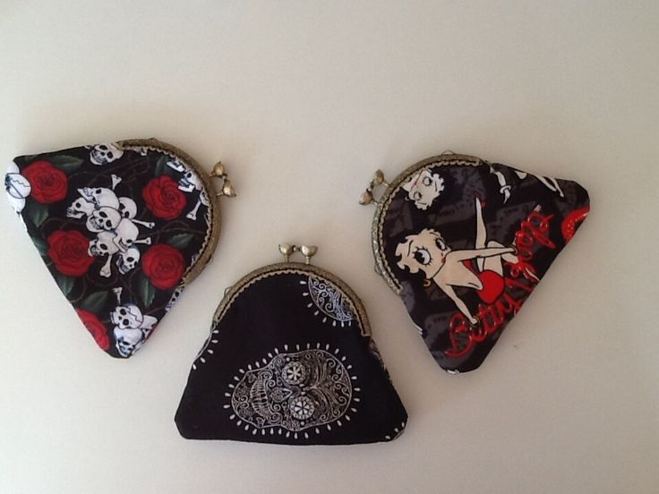 A few of the coin purses I make , enough room for keys money and cards lippy and more