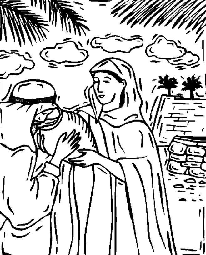 Isaac and Rebekah Coloring Pages - Best Coloring Pages For ...