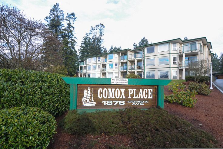 OCEAN & MOUNTAIN View condo centrally located in the Heart of Comox! $284,900. Call me to view 1-778-585-2273. Or go to my web site for more details and pictures. www.michelecourtney.com. Exceptional, barely lived in, roomy 1,458 sq. ft., second floor unit (half stair flight from the parking level). Two bedrooms, two baths (4pc & 3pc) with mountain and ocean views from the Living/ Dining/Kitchen and Family Room. Deck off family room with sun shades, south facing with view.