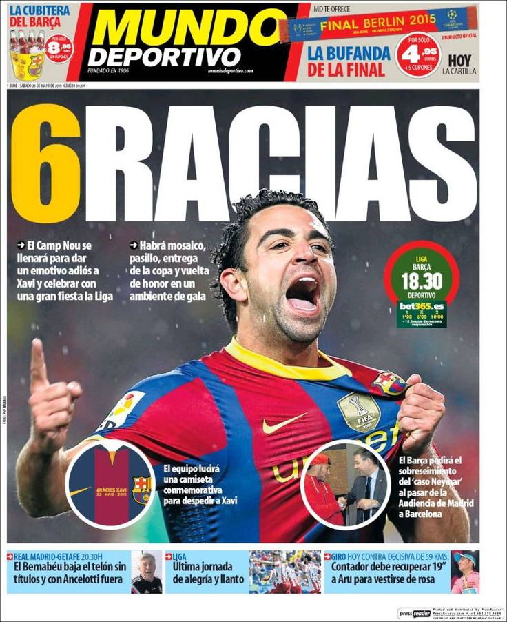 Portada Mundo Deportivo 23/05/2015
