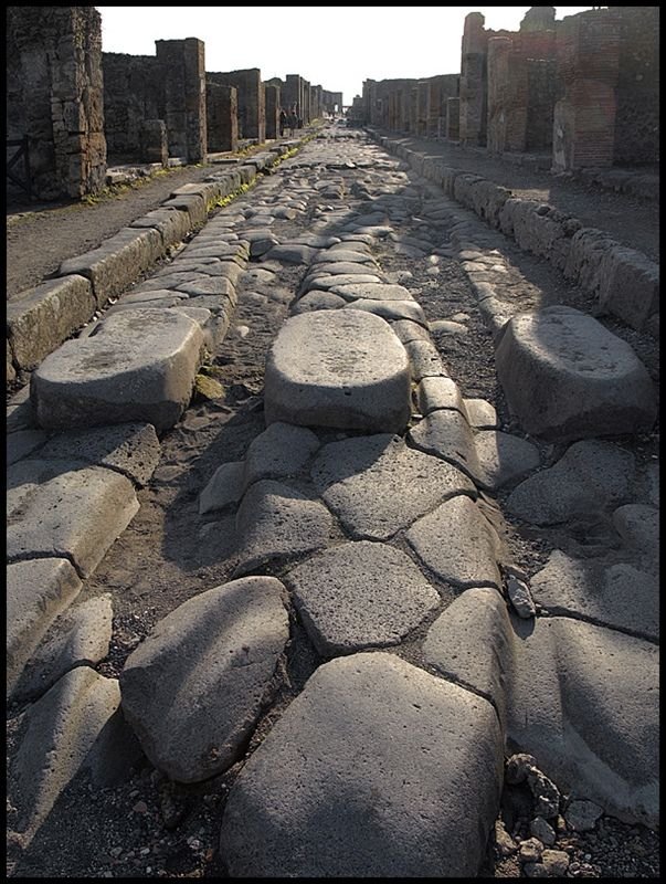 Crosswalk, Pompeian style, Ancient Rome