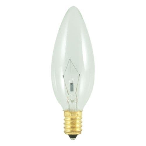 Bulbrite 400425 Pack of (10) 25 Watt Clear Dimmable B10 Shaped European (E14) Base Incandescent Bulbs
