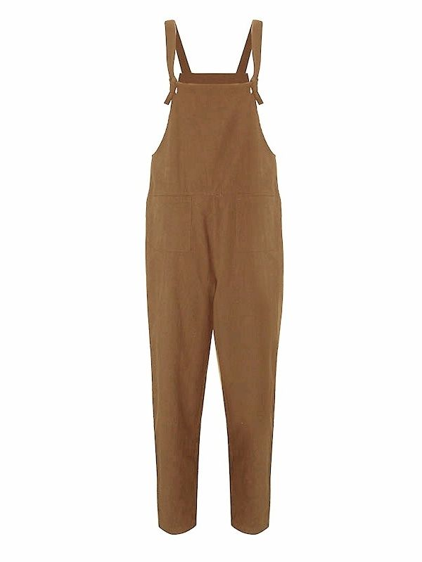 09d19b9b5c9 Womens Casual Loose Straps No Button Jumpsuit Dungaree Trousers Overalls  Loose