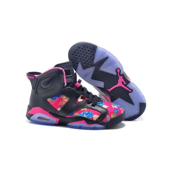 Nike Air Jordan AJ6 Retro Jordan 6 Basketball Shoes Womens Shoes... ❤ liked on Polyvore featuring shoes, retro style shoes, red black shoes, genuine leather shoes, leather footwear and nike footwear