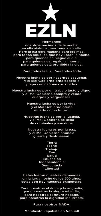 Para todos todo para nosotros... EZLN