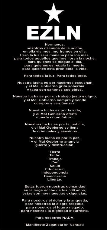 Resultado de imagen para frases zapatistas ezln