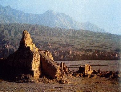 The ruins of Subashi, at the edge of the Taklamakan Desert.  In the Uigur language, Takla Makan means 'you can get into it but can never get out'. Even if untrue, such a label fits such a large, dry, dangerous place for humans and most animals.