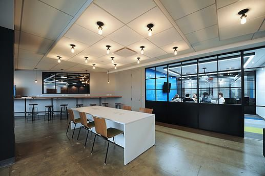 Namely  Designer: LB Architects    #namely #office #lbarchitects #tagwall #industrialsash #interiordesign #officedesign #walldesign #workspaces