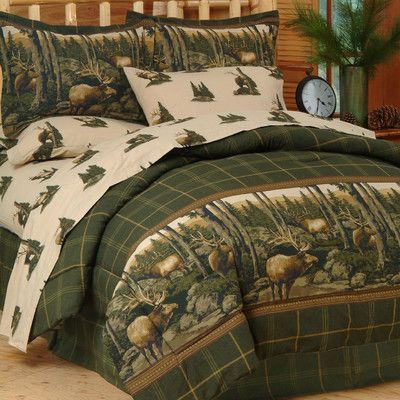 Blue Ridge Trading Rocky Mountain Elk Bed-In-a-Bag Set Size: Full