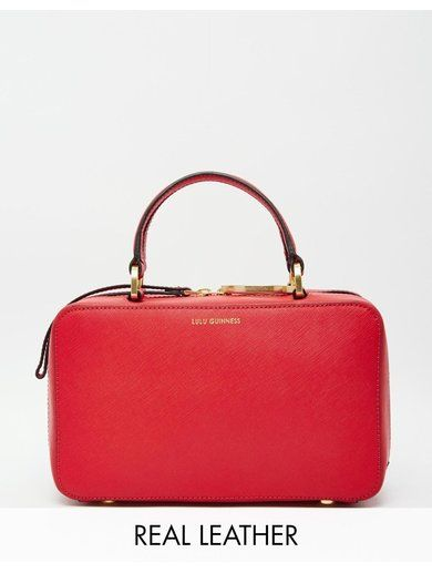 Lulu Guinness Leather Connie Lady Handheld Bag - Red