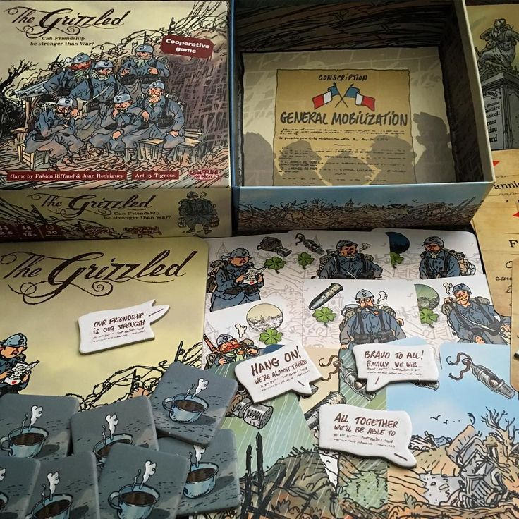 Picked up #TheGrizzled when in the US. Haven't played it yet, but looking forward to giving it a go. Sounds like it's going to be very hard, yet enjoyable (well we love Pandemic so that's fine with us). Just love the look of it and the quality is schmick. Have you played The Grizzled? #cardgame  #cardgames #tabletop #tabletopgame #tabletopgamer #tabletopgames #tabletopgamers #brettspiel #Brettspiele #boardgame #boardgamer #boardgames #boardgamers #boardgamegeek #bgg #tignous #coolminiornot…