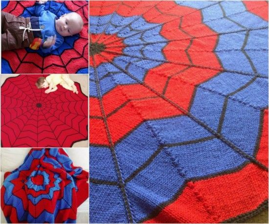 Knitted Spiderman Blanket Free Pattern